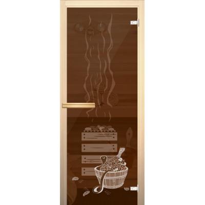 Дверное полотно 690х1890/Правая/Бронзовое/75Хром/дерево-магнит/Осина 1-й сорт/СJ