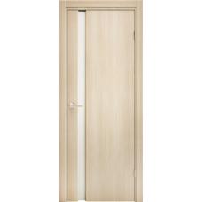 Дверное полотно 3/1, стекло белое матовое, орех капучино, полипропилен, 2000х700х38м