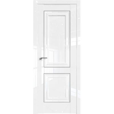 Дверь Белый люкс №27 L 2000*800 серебро