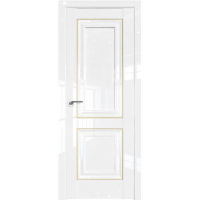 Дверь Белый люкс №27 L 2000*800 золото