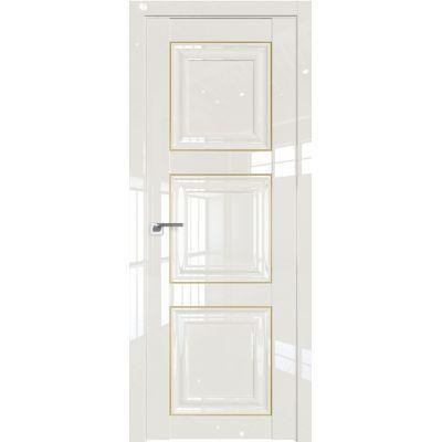 Дверь Белый люкс №96 L 2000*800 золото