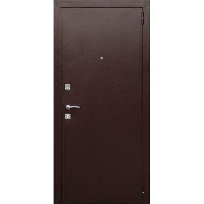 Дверь мет.Dominanta Рустикальный дуб (860мм) правая