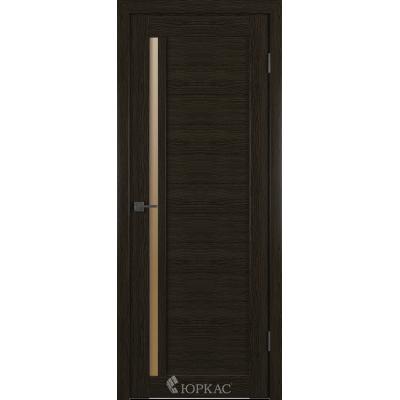 Дверное полотно GLLight 9 800*2000 дуб шоколад брон.сат.(Ю)