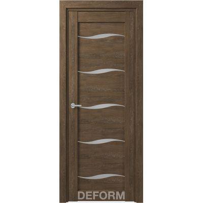 Дверное полотно DEFORM D1 ПО 35*800*2000 ( Дуб Шале Корица)