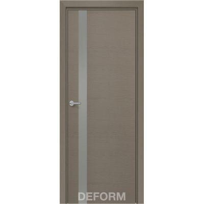 Дверное полотно DEFORM Н2 ПО 40*800*2000(Дуб французский СЕРЫЙ Лакобель Бронза)
