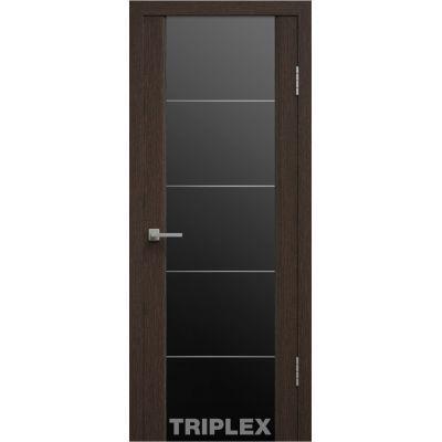 Дверное полотно GL Triplex 2 800*2000 венге ст.черн.грав. (Ю)