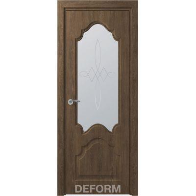 Дверное полотно Скиновая классика Тулуза ПО 40*800*2000 (Дуб Шале Корица Сатинато с рисунком)