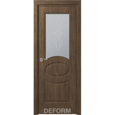 Дверное полотно Скиновая классика Прованс ПО 40*800*2000 (Дуб Шале Корица Сатинато с рисунком)