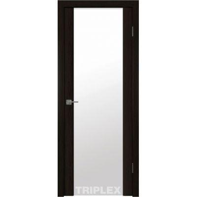 Дверное полотно Триплекс 2 белый 800*2000 Черный шелк