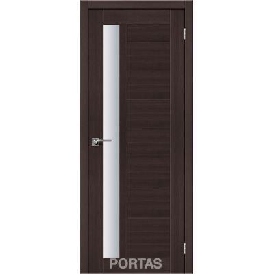 Дверное полотно 28 S(р) матовое 35*800*2000 (Орех шоколад )