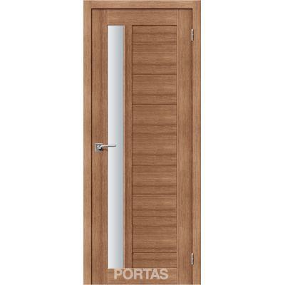 Дверное полотно 28 S(р) матовое 35*800*2000 (Орех карамель)