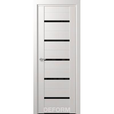Дверное полотно DEFORM D11 ПО 35х800х2000 (Дуб Шале Снежный Черный лакобель)