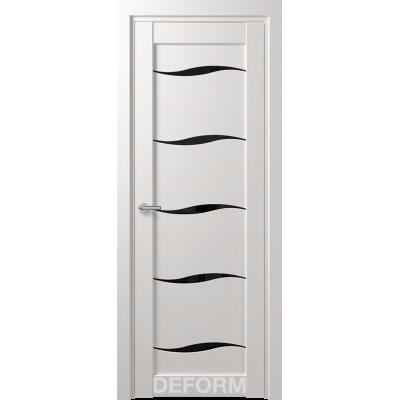 Дверное полотно DEFORM D1 ПО 35х800х2000 (Дуб Шале Снежный Черный лакобель)