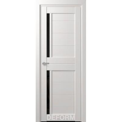 Дверное полотно DEFORM D17 ПО 35*800*2000 (Дуб шале Снежный Черный лакобель)