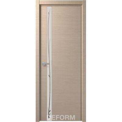Дверное полотно DEFORM H2 ПО 40х800х2000 (Дуб французский КАПУЧИНО Зеркало белое)