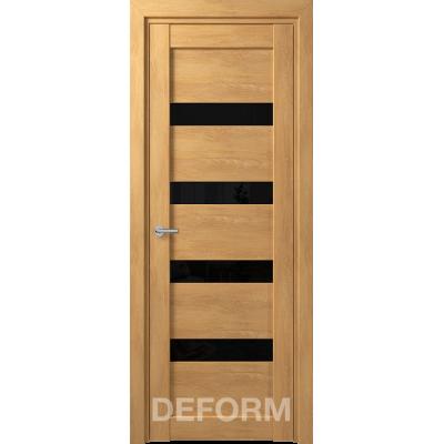 D16 DEFORM ДО черный лак 800*2000 Дуб шале натуральный