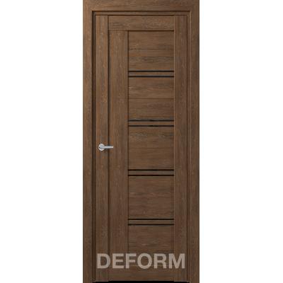 D18 DEFORM ДО черный лак 800*2000 Дуб шале корица