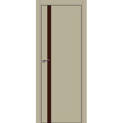 6E коричневый лак 800*2000 Шеллгрей хром черная с 4-х сторон