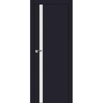 6E (ABS) белый лак 800*2000 Черный матовый кромка в цвет