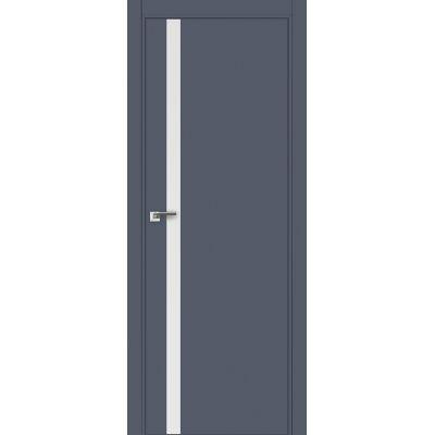 6E (ABS) белый лак 800*2000 Антрацит кромка в цвет