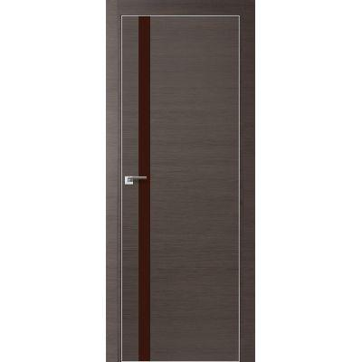 6Z коричневый лак 800*2000 Грей кроскут хром с 4-х сторон