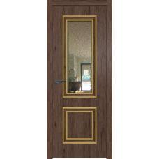 53ZN зеркало патина 800*2000 Дуб салинас темный кромка ABS в цвет Багет внеш. золото глянец