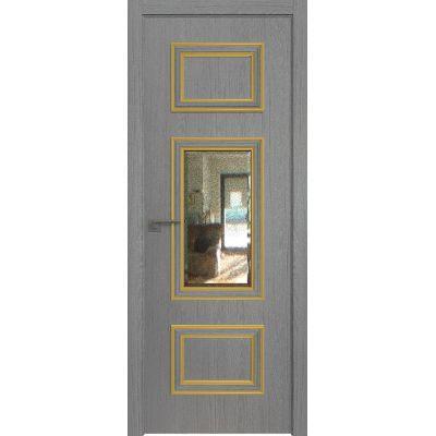 57ZN зеркало патина 800*2000 Грувд кромка ABS в цвет Багет внеш. золото глянец