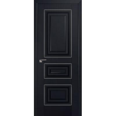 25U 800*2000 Черный матовый серебро люкс