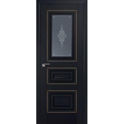 26U графит кристалл 800*2000 Черный матовый золото люкс