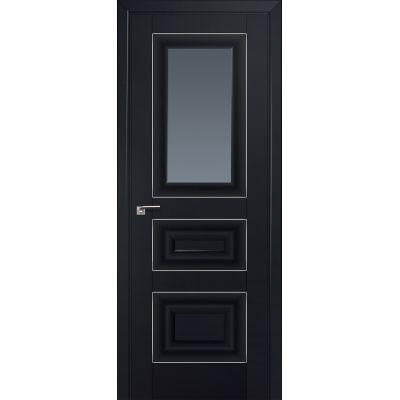 26U графит 800*2000 Черный матовый серебро люкс