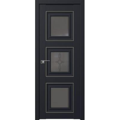 97U графит узор 800*2000 Черный матовый серебро люкс