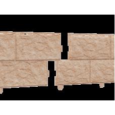 Сайдинг Стоун Хаус камень золотистый (двойной замок)